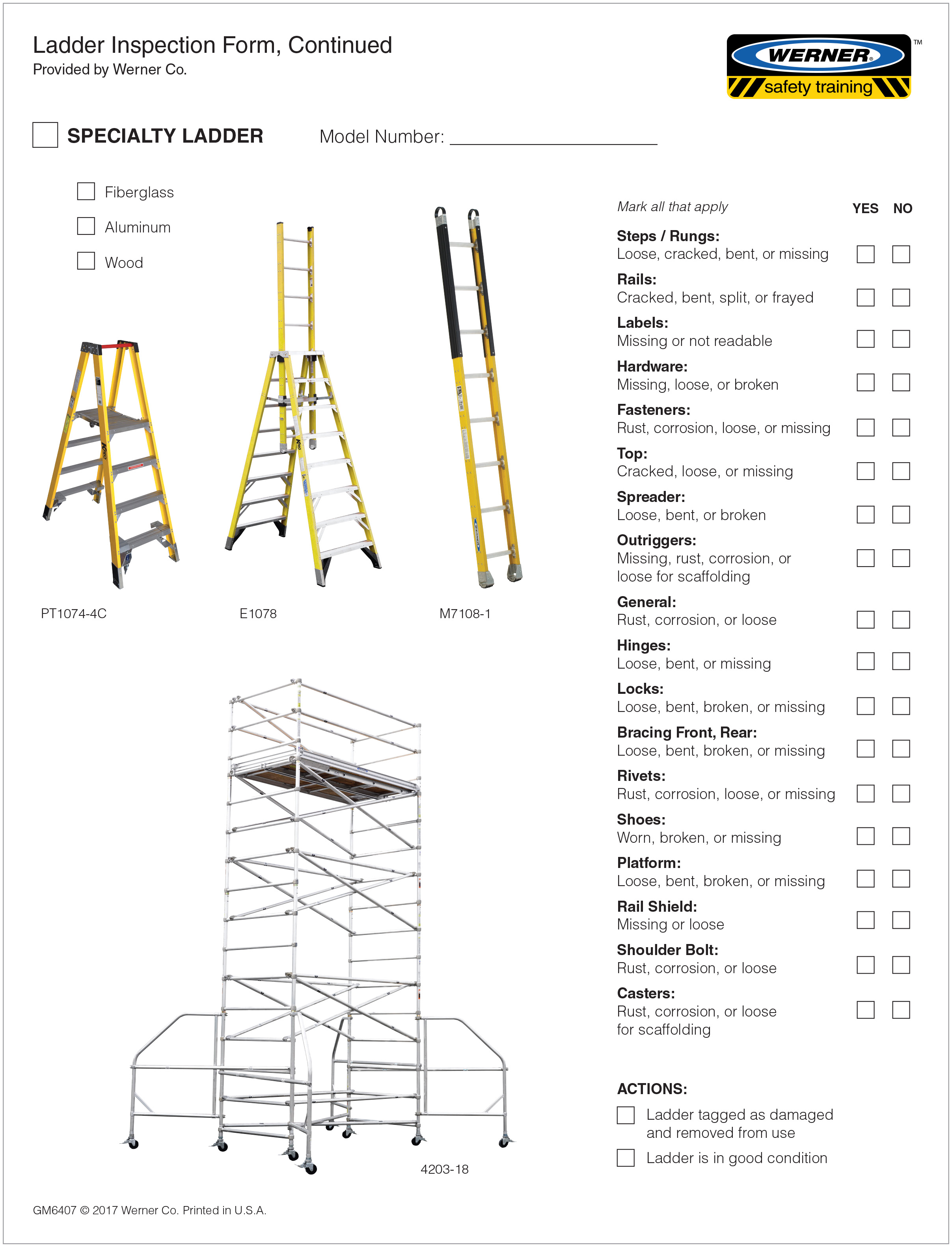 Ladders Ladder Information Ladder Inspection Video