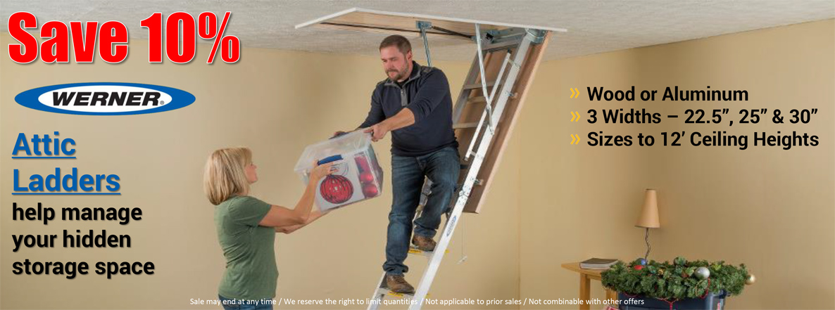 Save on Werner Attic Ladders!