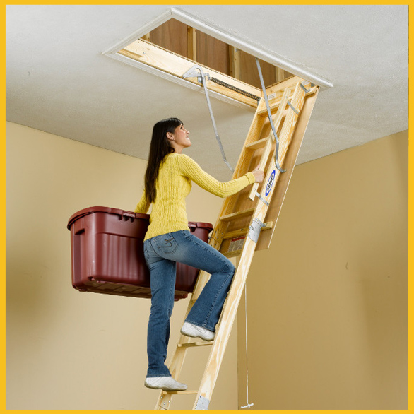 Beautiful Pull Down attic Stairs for Small Openings