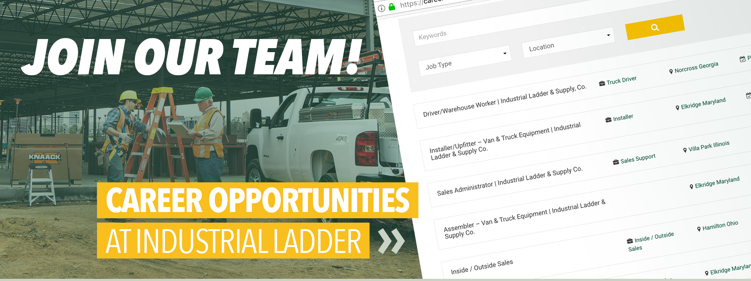 Careers at Industrial Ladder
