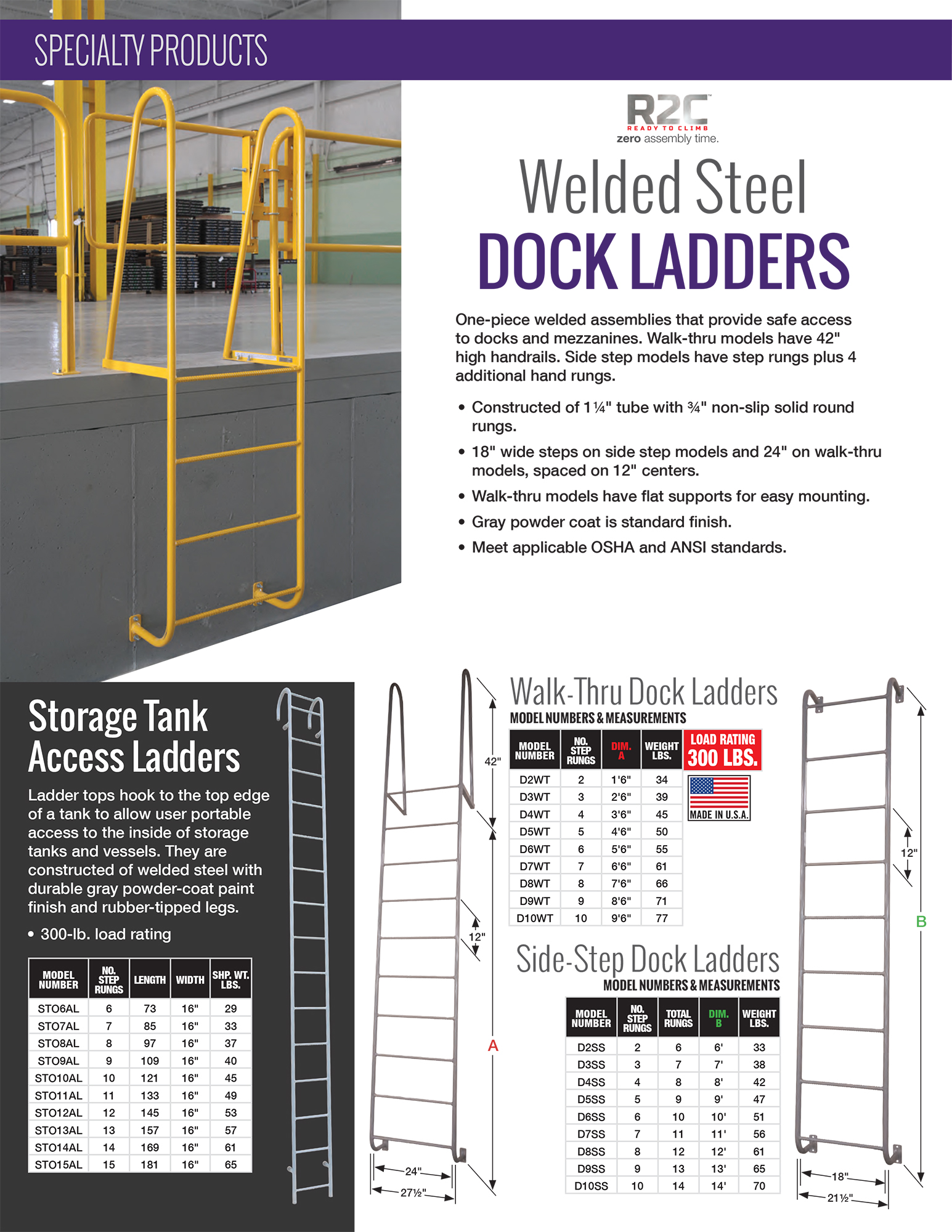Cotterman Dock Ladder Information Sheet