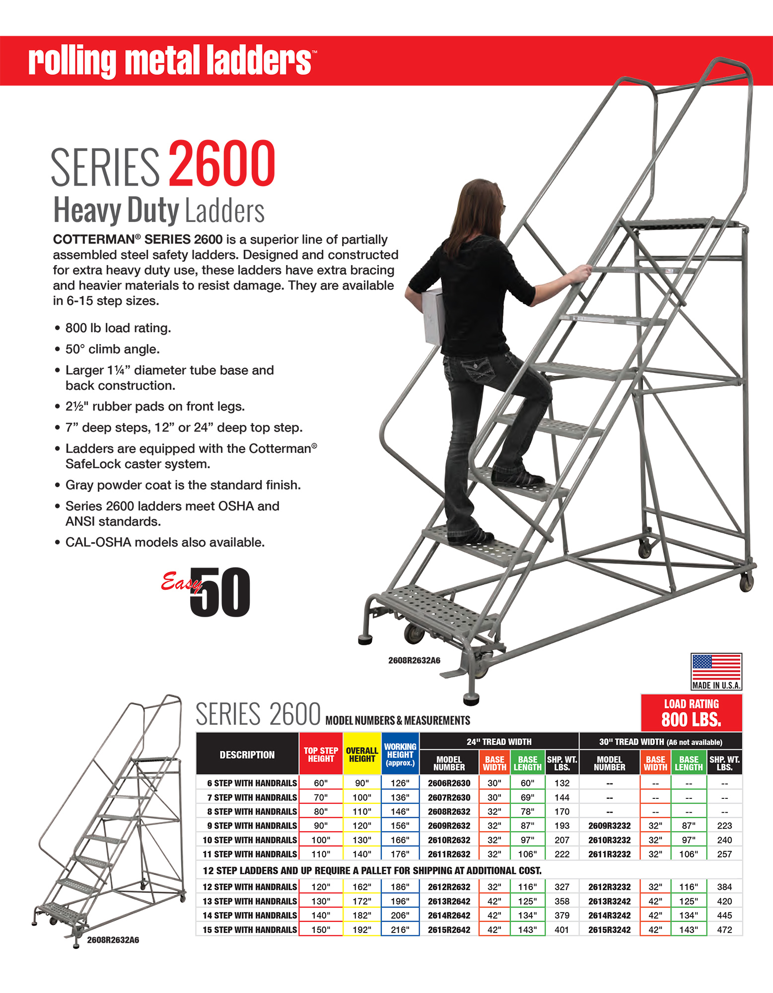 Cotterman Heavy Duty Ladders Series 2600 Information