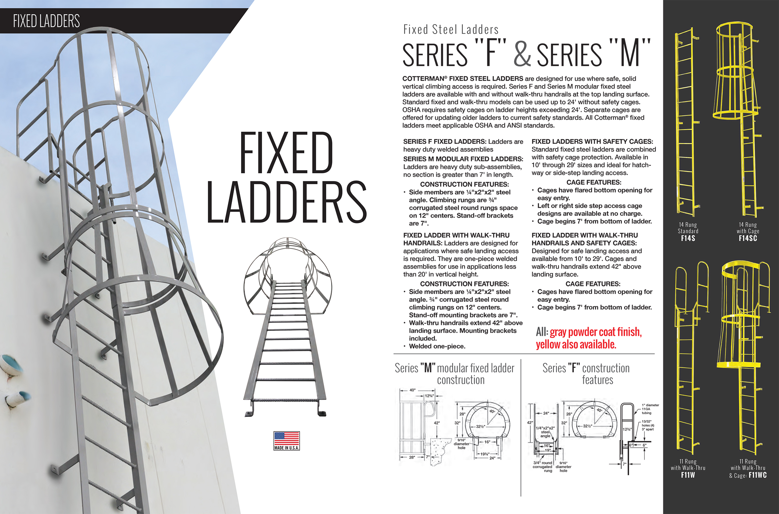 Cotterman Fixed Steel Ladders Information
