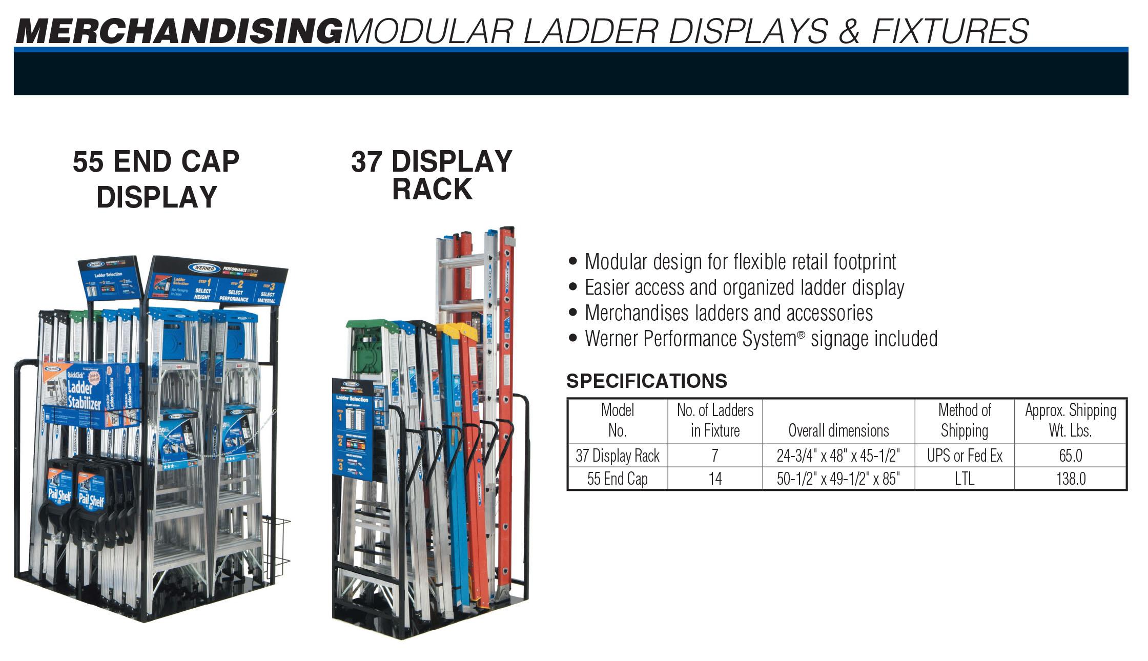 Werner Ladder Display Fixtures Industrial Ladder