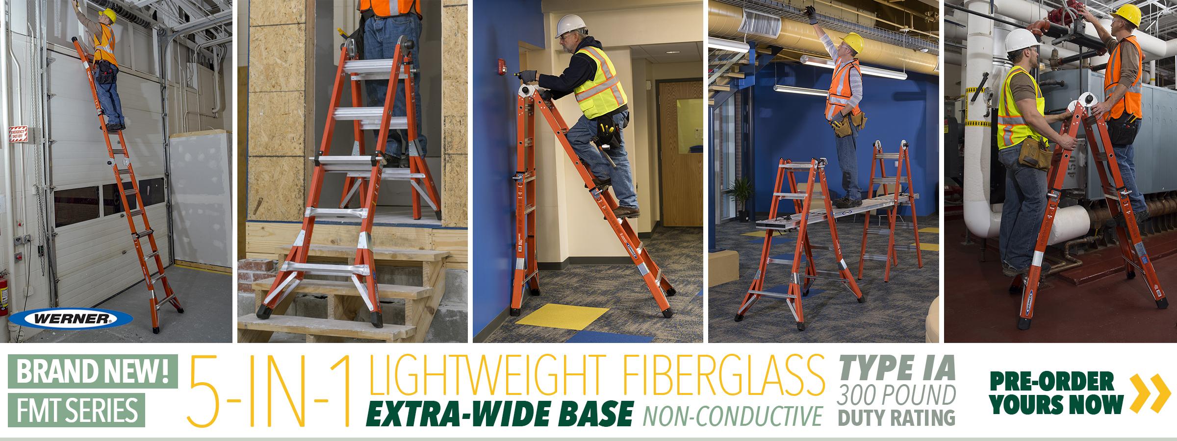 NEW Werner FMT Series 5-in-1 Ladder