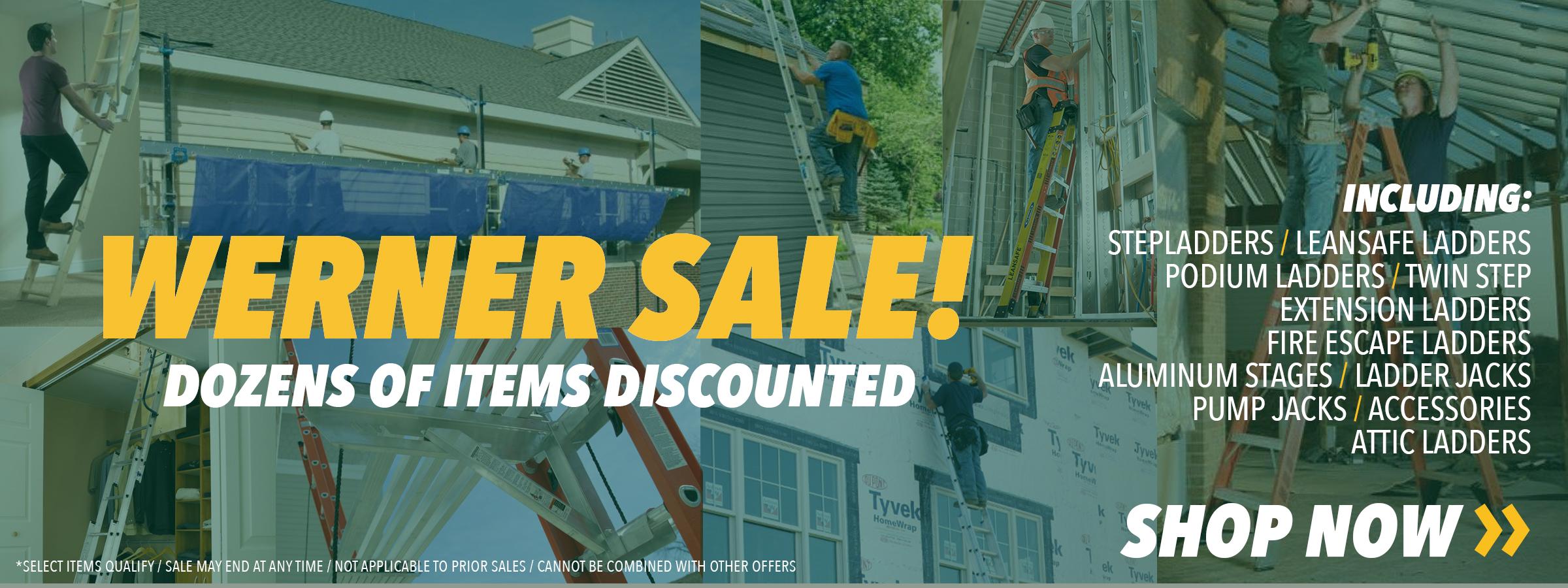Save on Werner Equipment!