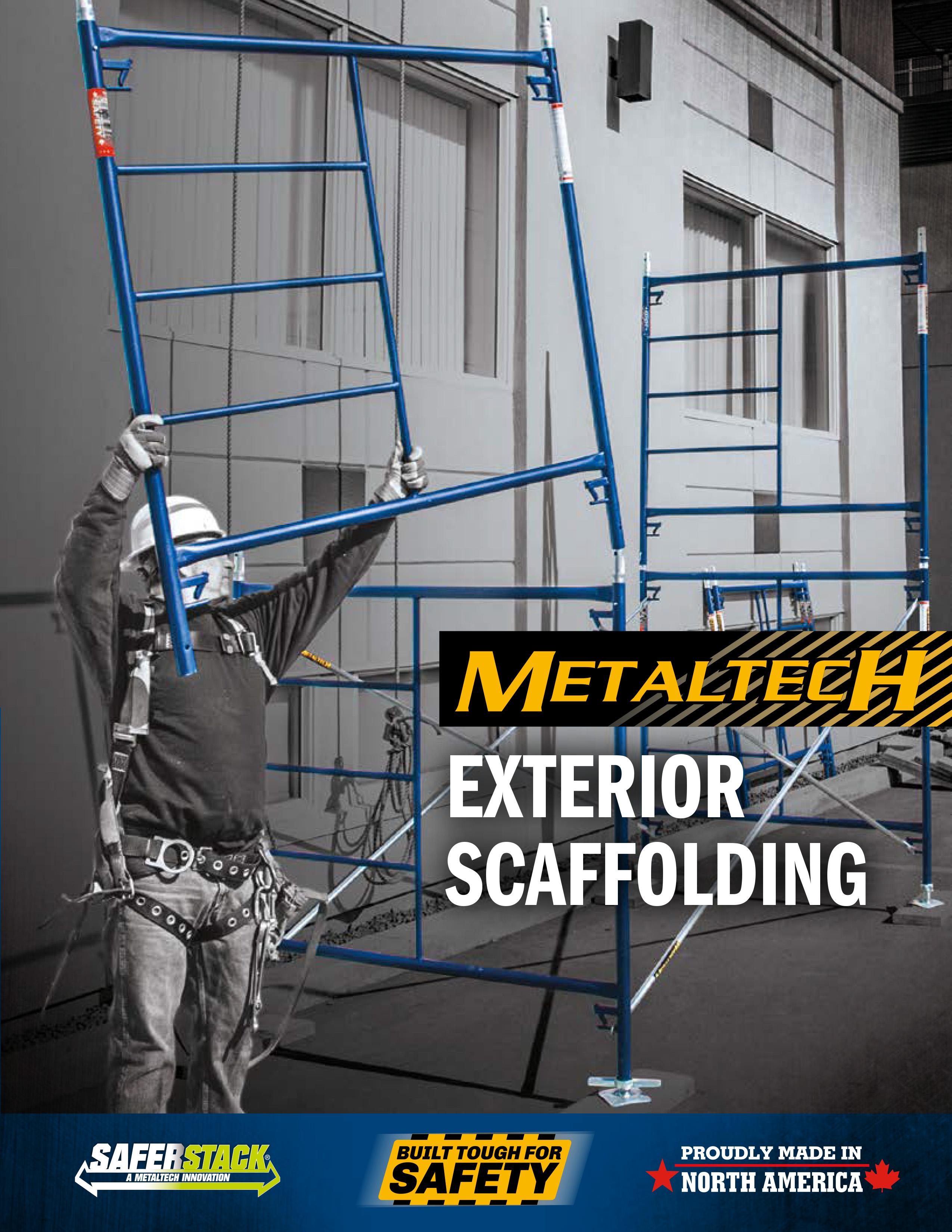 Scaffolding Steel Suppliers : Metaltech exterior steel quot walk thru arch scaffold